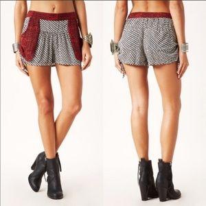 Free People Boho Side Tie Shorts